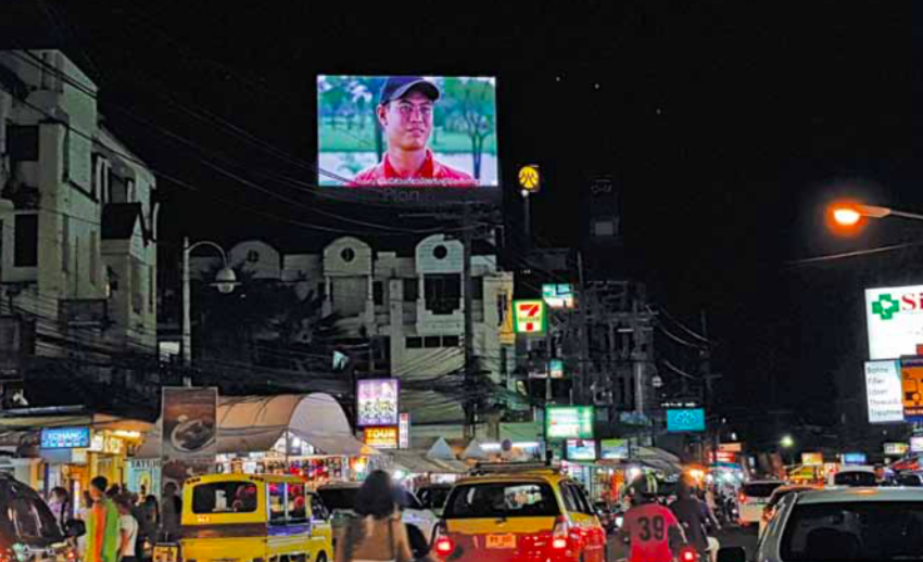 The vibrant LED signage scenario of Bangkok