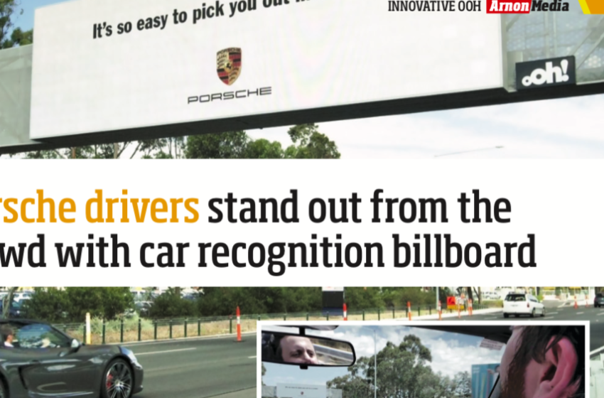 Porsche drivers stand out from the crowd with car recognition billboard