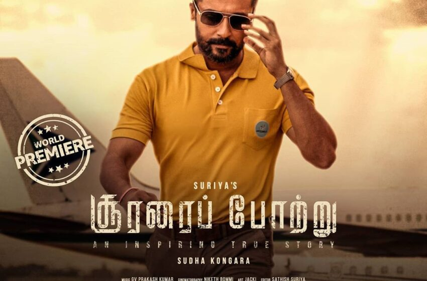 Suriya -Soorarai Pottru, will drop directly on OTT platform Amazon Prime next Thursday.