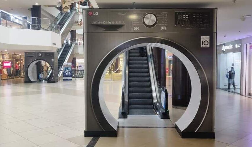 An innovative Branding 3D Structure of LG Washing Machine