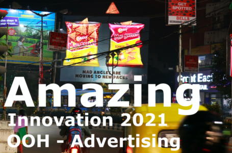 Amazing Inovation -2021 OOH Advertising  In India , Delhi ,Kolkata ,Bangalore | BINGO ITC New Packs
