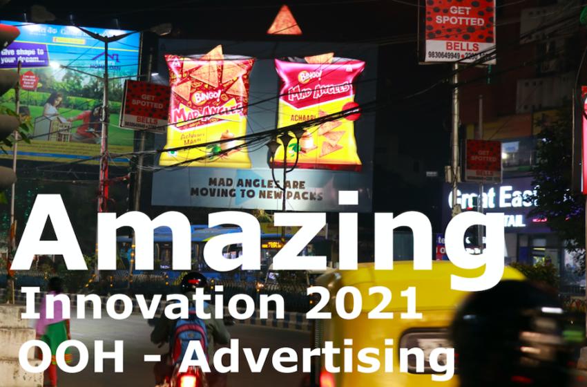 Amazing Inovation -2021 OOH Advertising  In India , Delhi ,Kolkata ,Bangalore | BINGO ITC New Packs