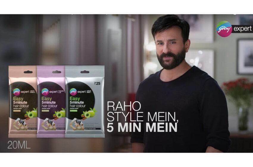 Saif Ali Khan is the new brand ambassador of Godrej Expert Easy shampoo hair colour